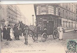 75 PARIS Les Femmes Cocher Taxi  Mme Dufaut Devant Boulangerie Et Boulangers - Altri