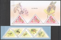 BC257 2011 GUINEE GUINEA FLORA & FAUNA INSECTS HONEY BEES LES ABEILLES 2KB MNH - Honeybees
