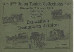 BUVARD 6ème SALON TOUTES COLLECTIONS DIMANCHE 7 FÉVRIER 1999 SALLE DE LA BARONNIE - BRETTEVILLE SUR ODON - S