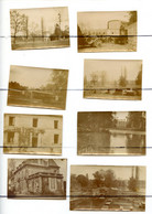 8 PHOTOGRAPHIES.MILITAIRE. Château De Jouaignes. Montages Des Baraques,  Prisonniers Boches Capturés A CRAONNE - Guerra, Militari