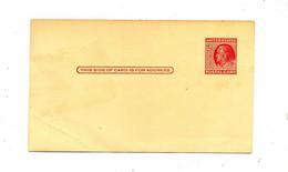 Carte Postale 2 C Franklin  Leger Pli - 1941-60