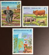 Laos 1983 Anniversary Of People's Republic Animals Plants MNH - Laos
