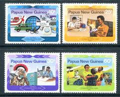 Papua New Guinea 1983 World Communications Year Set MNH (SG 468-471) - Papua New Guinea