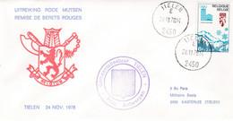 Enveloppe 1913 Tielen Remise De Berêts Rouges Uitreiking Rode Mutsen 3 Bn Para - Cartas