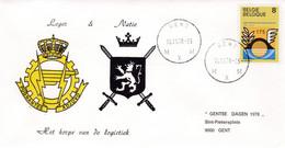 Enveloppe 1889 Het Korps Van De Logitiek Pugantes Adjuvo Gent Leger & Natie - Cartas
