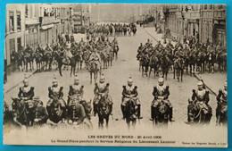 Carte Postale Ancienne -  Les Grèves Du Nord - Lens- La Gd Place Pendant Le Service Religieux Du Lt Lautour - Mijnen