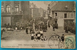 Carte Postale Ancienne - Lens- Obsèques Du Lieutenant Lautour  - Le Cortège - Mijnen