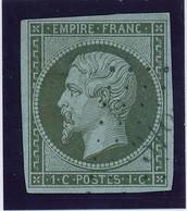 1 C Olive N° 11 Obl Pc Rare Signé Calves TB. - 1853-1860 Napoleon III