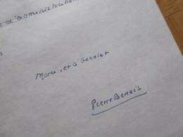 Pierre BENOIT (1886-1962) ACADEMIE FRANCAISE. Nationalisme. Proche Petain & Maurras. AUTOGRAPHE - Autografi