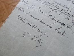 Pierre LOTI : AUTOGRAPHE à Jane Catulle Mendès. Petit Billet AUTOGRAPHE Signé - Autografi