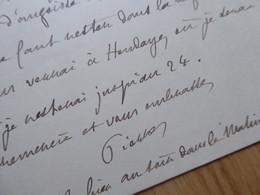 Pierre LOTI (1850-1923) Académie FRANCAISE. Autographe à Jane CATULLE MENDES - Autografi