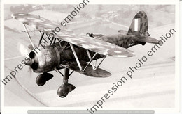 PHOTO RETIRAGE REPRINT AVION FIAT CR 42  EN VOL - Aviation