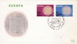 Enveloppe  FDC Europa 1530 1531 Ixelles Elsene - 1961-70