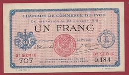 1 Franc  Chambres De Commerce De Lyon (23/07/1916) Dans L 'état (238) - Cámara De Comercio