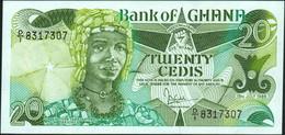 ♛ GHANA - 20 Cedis 15.07.1986 UNC P.24 - Ghana