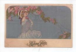 """Belle  Dame  à  Coté   Des  Roses      """"   Bonne  Fete """" - Zandrino"""