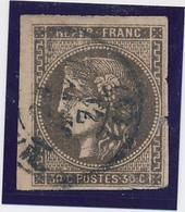 30 C Brun N° 47 Def. - 1870 Emisión De Bordeaux