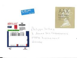 GRANDE BRETAGNE POUR LA FRANCE 2013 - GRANDE VIGNETTE LA REINE, VIGNETTE PAR AVION, VIGNETTE AIRUSE EXPRESS, A VOIR - Storia Postale
