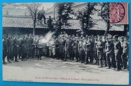 Carte Postale Ancienne  - Le 94 è Aux Grèves à Lens-  L'heure De La Soupe - Ecole Jeanne D'Arc - Mijnen
