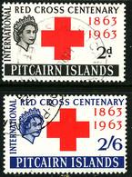 PITCAIRN ISLANDS 1963 QE2 Red Cross Used SG 34-5 - Pitcairn Islands