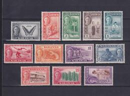 SARAWAK 1950, SG# 171 - 182, Short Set, Personalities, Animals, MH - Sarawak (...-1963)
