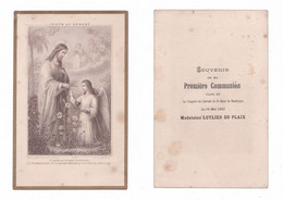 Montluçon, 1re Communion De Madeleine Luylier Du Plaix, 14/05/1903, Couvent Saint-Maur, éd. H. Bonamy N° 87 - Devotion Images