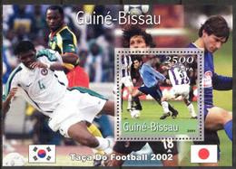 {GB58} Guinea - Bissau 2001 Football Soccer World Cup 2002 Korea - Japan (2) S/S MNH** - Guinea-Bissau