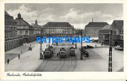 152140 GERMANY KARLSRUHE THE STATION TRAIN POSTAL POSTCARD - Sin Clasificación