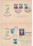 AUTRICHE LOT DE 2 LETTRES CHRISTKINDL - 1945-60 Cartas