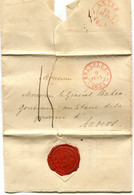 Précurseurs Cad Type 13 BRUXELLES-Anvers 1833 Pour Le General Buzen Gouverneur Militaire + Cachet Cire CABINET DU ROI - 1830-1849 (Belgica Independiente)