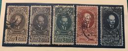 RUSSIE - 1925/26 - N°336-337-354 à 356 - Cote 31€ - Usados
