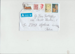 Belgio 2020 - Busta X L'Italia Affrancata Con 5 Stamps (1 Danneggiato) - Cartas