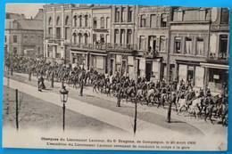Carte Postale Ancienne- Lens - Obsèques Du Lieutenant Lautour Du 5 E Dragons , 20 Avril 1906 - Mijnen