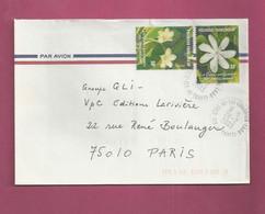 Lettre De 2003 Pour La France - YT N° 652 Et 653 - Fleurs Parfumées - Non Classificati