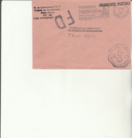 Z1 - Enveloppe Brigade  Gendarmerie ROCHEFORT   - En Franchise - FD COURCELLES CHAUSSY - Bolli Militari A Partire Dal 1940 (fuori Dal Periodo Di Guerra)