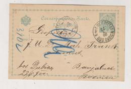 BOSNIA AND HERZEGOVINA Austria Postal Stationery 1900 Bosanska Dubica - Bosnië En Herzegovina
