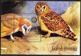 {GB121} Guinea - Bissau 2001 Birds Owls Rotary Club S/S MNH** - Guinea-Bissau