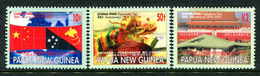 Papua New Guinea 2001 25th Anniversary Of Diplomatic Relations With China Set MNH (SG 900-902) - Papua Nuova Guinea