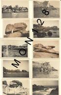 BRETAGNE-PLOUMANAC'H PERROS GUIREC - 10 PHOTOS DE FAMILLE DANS LES ANNEES 40 - DIM 9x6 Cms - Places