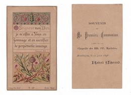 Montluçon, 1re Communion De Robert Morand, 21/06/1896, Chapelle Des RR. PP. Maristes, éd. Bonamy Pl. 197 Bis - Devotion Images