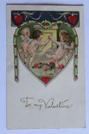 To My Valentine - Gaufrée - Angelots Nus - 1923 - Angels