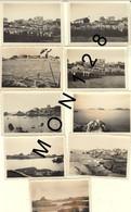 BRETAGNE-PLOUMANAC'H PERROS GUIREC - 9 PHOTOS DE FAMILLE DANS LES ANNEES 40 - DIM 9x6 Cms - Places