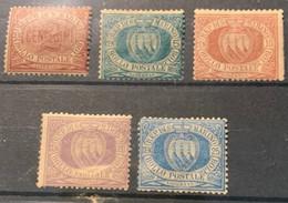 SAINT MARIN -1895-1899 - N°26 à 30 *neufs Charnières - - Unused Stamps