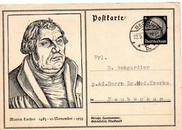 BECKUM  1934 Martin LUTHER (entier Postal) - Nuernberg