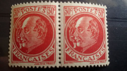 FRANCE - PETAIN-LAVAL - Paire Neuve ** ( MNH) - Peu Commun - 2 Photos Recto-Verso - Curiosità: 1941-44  Nuovi
