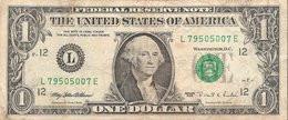Etats-Unis (United States Of America) - Billet D' 1 Dollar (ONE DOLLAR) - Serie 1995 - Billet N° L79505007E - Billetes De Estados Unidos (1928-1953)