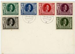 ALLEMAGNE ENV 1943 SAARGAMÜND SUR SERIE COMPLETE 763/768 SURTAXE - Covers & Documents
