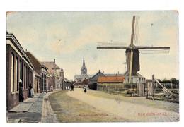 Roosendaal Kalsdonksche Straat Molen Colorisée 1911 Cachet Audregnies - Roosendaal