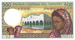 COMORES 1986 500 Franc - P.10a  Neuf UNC - Comoros