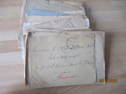 Lot De 50 Tresor Et Postes 1 Cercle 2 Etoiles   Franchise Postale Militaire Guerre 14.18 - Guerra Del 1914-18